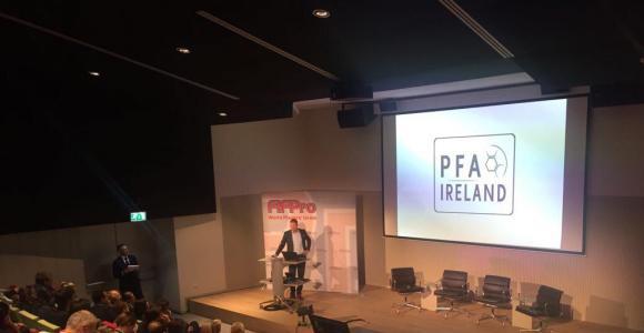 Pic of PFA Ireland presentation at FIFPro