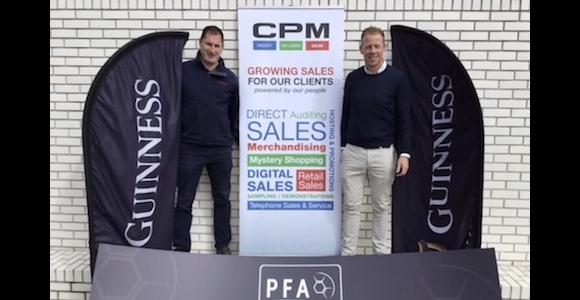Colin Hawkins & Stephen McGuinness with branding