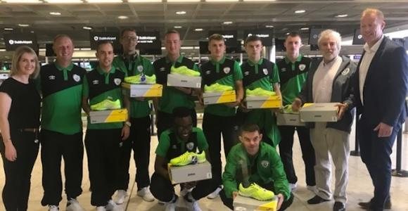 Homeless WC squad receiving footwear