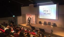 Pic of PFA Ireland presentation at FIFPro