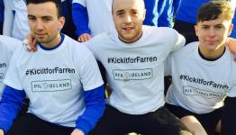 Drogheda Utd with the first KickitforFarren penalty challenge