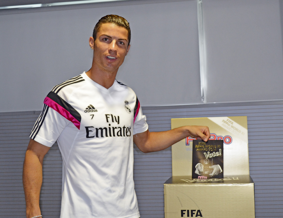 Ronaldo of Real Madrid casts his vote for World XI team of the year